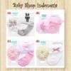 C215 Set Kaos Kaki Bayi Perempuan Import dan Bandana Bayi Perempuan Mix Motif  medium