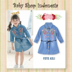 Dress Anak Import Button Down Flower  large
