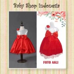 Dress Anak Merah Big Bow  large