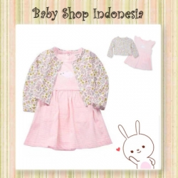 Dress Bayi Bolero Softpink Bunny  large