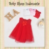 Dress Bayi Bow Merah  medium