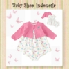 Dress Cardigan Bayi Pink Butterfly  medium