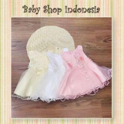 Dress Pesta Anak Aplikasi Bunga  large