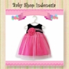 Dress Pesta Bayi Elegant Simply Style fuschia  medium