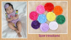 H003 Bandana Simply Round Rose  large