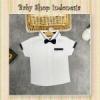 Kemeja Bayi Putih List Navy  medium