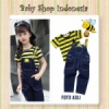Overall Softjeans Smiley Stripe Kuning  medium