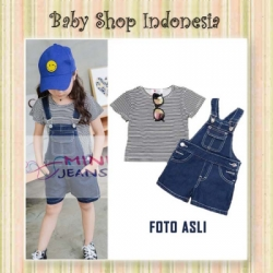 Overall Stripe Hitam  large