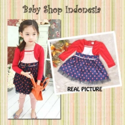 PD205 Dress Cardigan like Red Polka 105  large