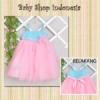 PD329 Dress Pesta Princess Pastel Blue Pink Big  medium