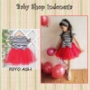 PD373 Dress Impor Ebuty Stripe Red Tutu 105 copy  medium