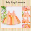 PD405 Dress Pesta Tutu Curvy Tank Top 93 Oranye copy  medium