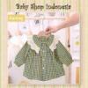 PK185 Atasan Anak Perempuan Lengan Panjang Baju Tunik Anak Tartan Renda Kuning  medium