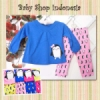 PU176 Setelan Kaos Lengan Panjang Little Penguin 70 Biru Tua copy  medium