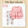 PU601 Setelan Baju Bayi Import Baju Bayi Perempuan Lengan Panjang Pink Polkadot  medium