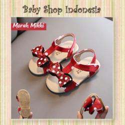 S1022 Sepatu Sandal Anak Import Murah Sepatu Sandal Anak Perempuan Mini Polka Bow Merah  large