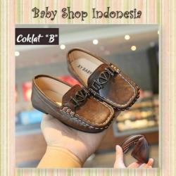 S1028 Sepatu Anak Formal Sepatu Pesta Anak Laki Laki Sepatu Vantovel Anak Gesper Versc Coklat  large