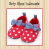 S746 Sepatu Prewalker Bayi Polkadot Red 70 copy  medium