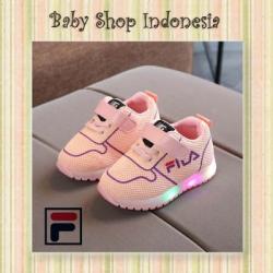 Sepatu Anak Kets Filla Pink  large