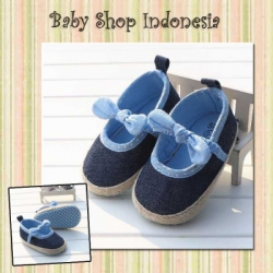 Sepatu Bayi Prewalker Denim Center Bow S773 68  large