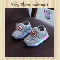 Sepatu LED Owl Abu  large