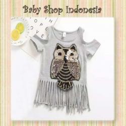 blouse grey owl  large