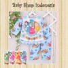 d PU375 Piyama Kaos Korea Three Princess Big 75 Biru  medium