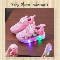 d S1020 Sepatu Lampu Anak Perempuan Sepatu LED Anak Pink HK  large