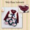 dress anak import baju anak import lengan panjang maroon  medium