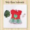 dress bayi cute tree merah  medium