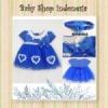 dress pita biru  medium