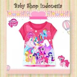 kaos pony pink baru  large