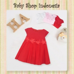 large Dress Bayi Chrysant Merah