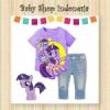 setelan ponny ungu  medium