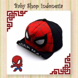 topi spiderman hitam  large